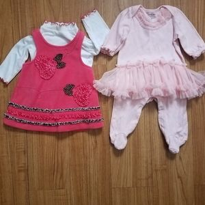 Clothing lot for baby girl size 3/6 months